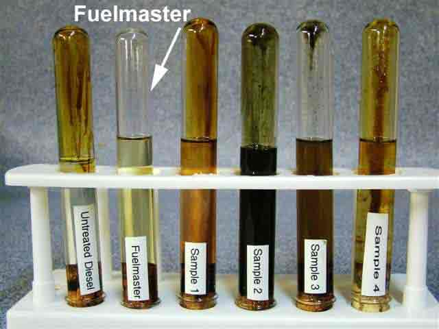 Test tubes with samples